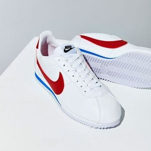 Red white and blue nike Cortez